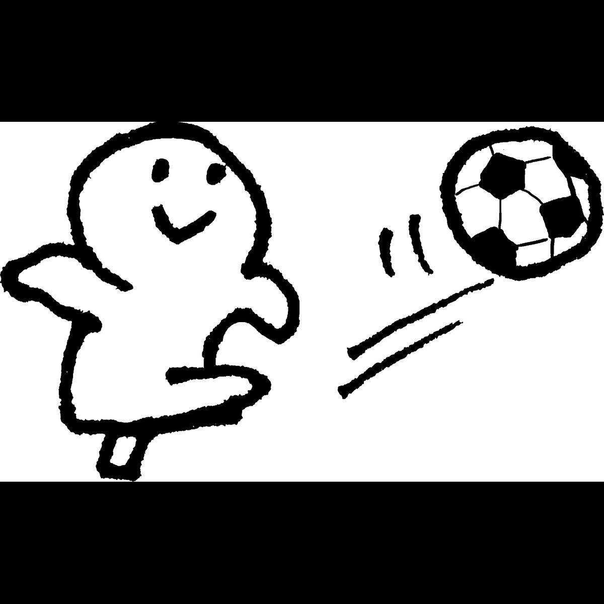 サッカーのイラスト Football