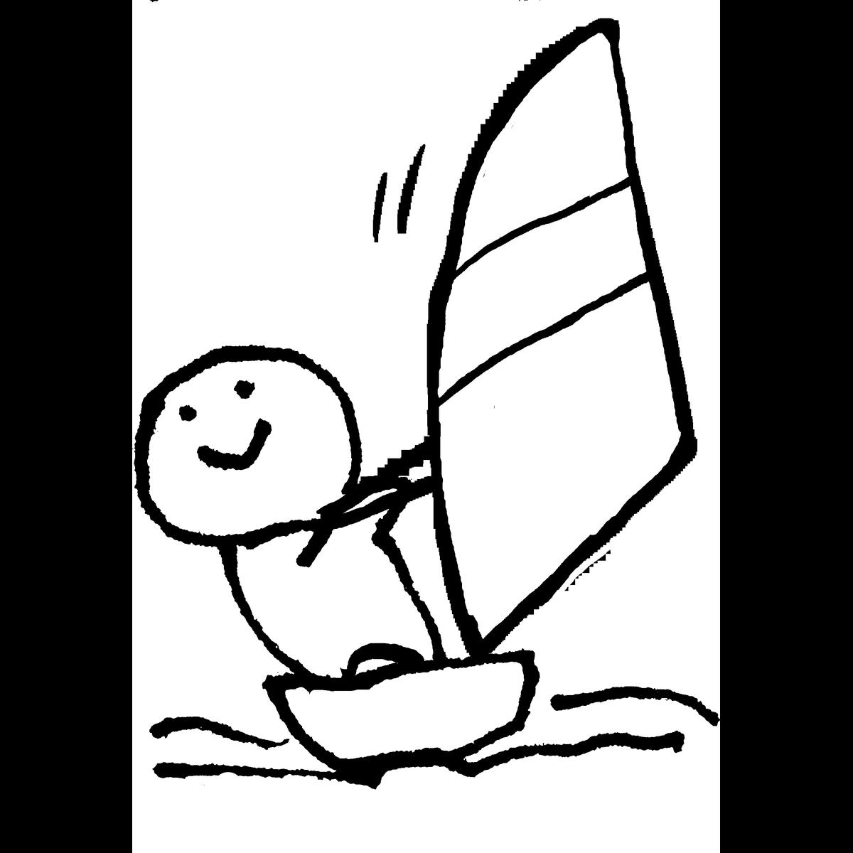 セーリング/ヨットのイラスト Sailing