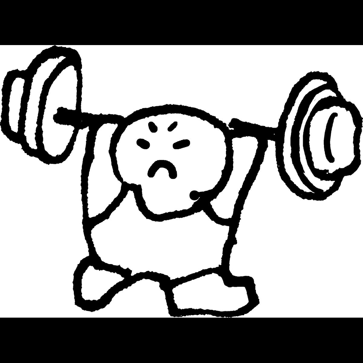 ウェイトリフティングのイラスト Weightlifting