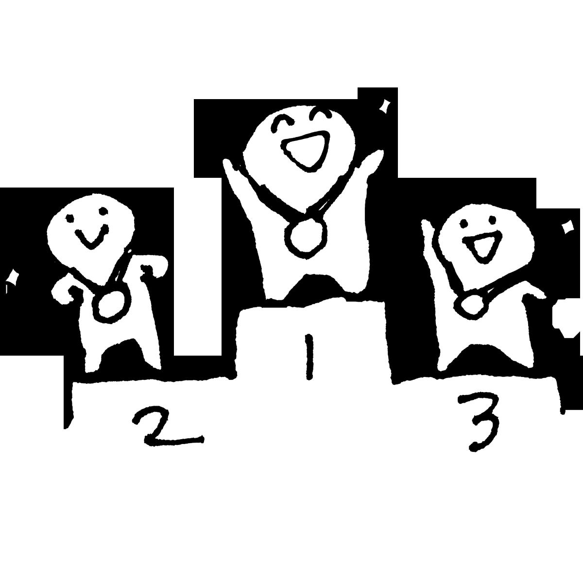 表彰台 表彰式のイラスト winnerspodium