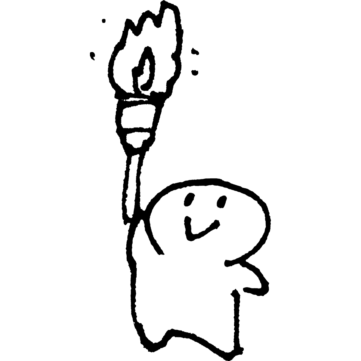聖火リレーのイラスト torch-relay_bearer